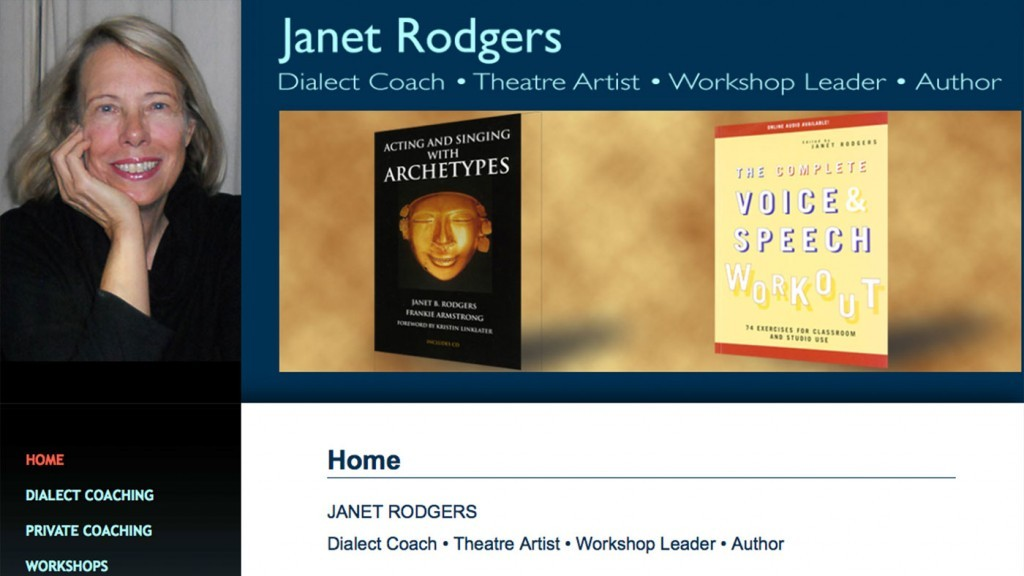 Janet Rodgers - Theatre Artist, Dialect Coach